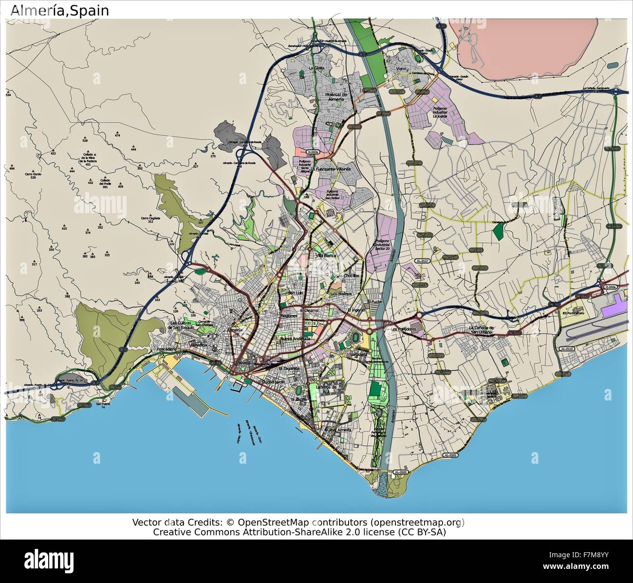 Map Of Spain Almeria.Almeria Spain City Map Stock Photo 90800527 Alamy