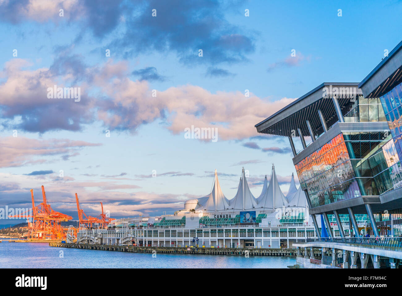 Vancouver Convention Centres, Vancouver, British Columbia, Canada - Stock Image