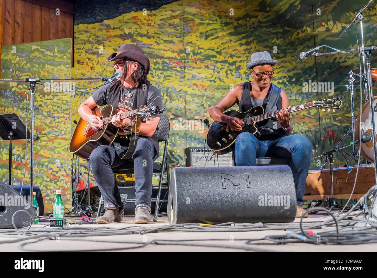Canmore Folk Music Festival, Canmore, Alberta, Canada - Stock Image