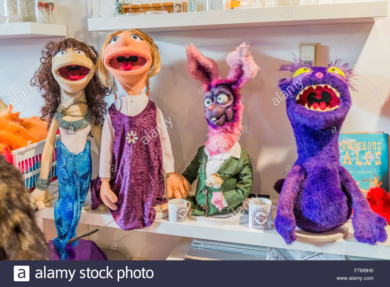 Alice in Wonderland puppets, Arc building, East Side Culture Crawl, Vancouver, British Columbia*, Canada - Stock Image
