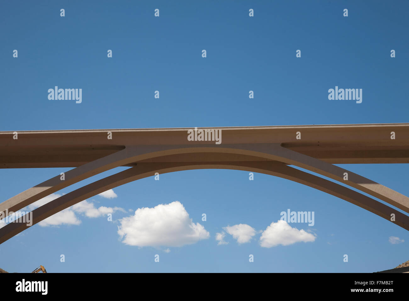 Galena Creed twin-span concrete arch bridge along Route 395 and Interstate 580 in Washoe County, Nevada. - Stock Image