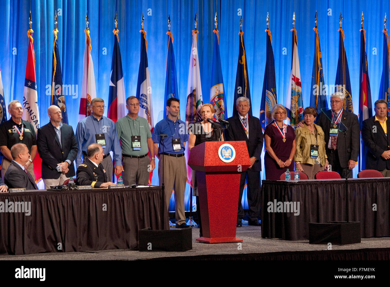 Annual meeting of the National Guard Association in Reno, Nevada, 9/11/12 - Stock Image