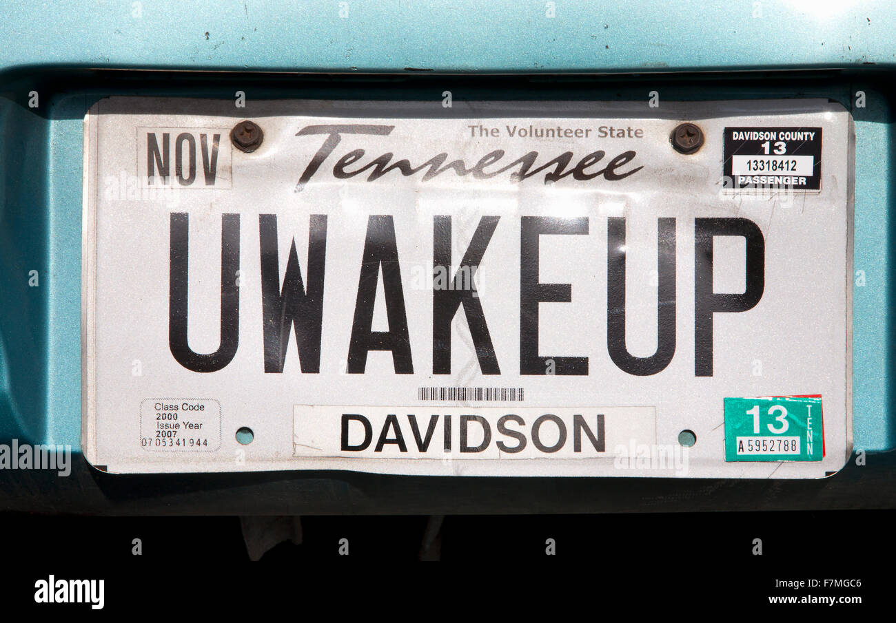 Alamy Vanity - License Tennessee