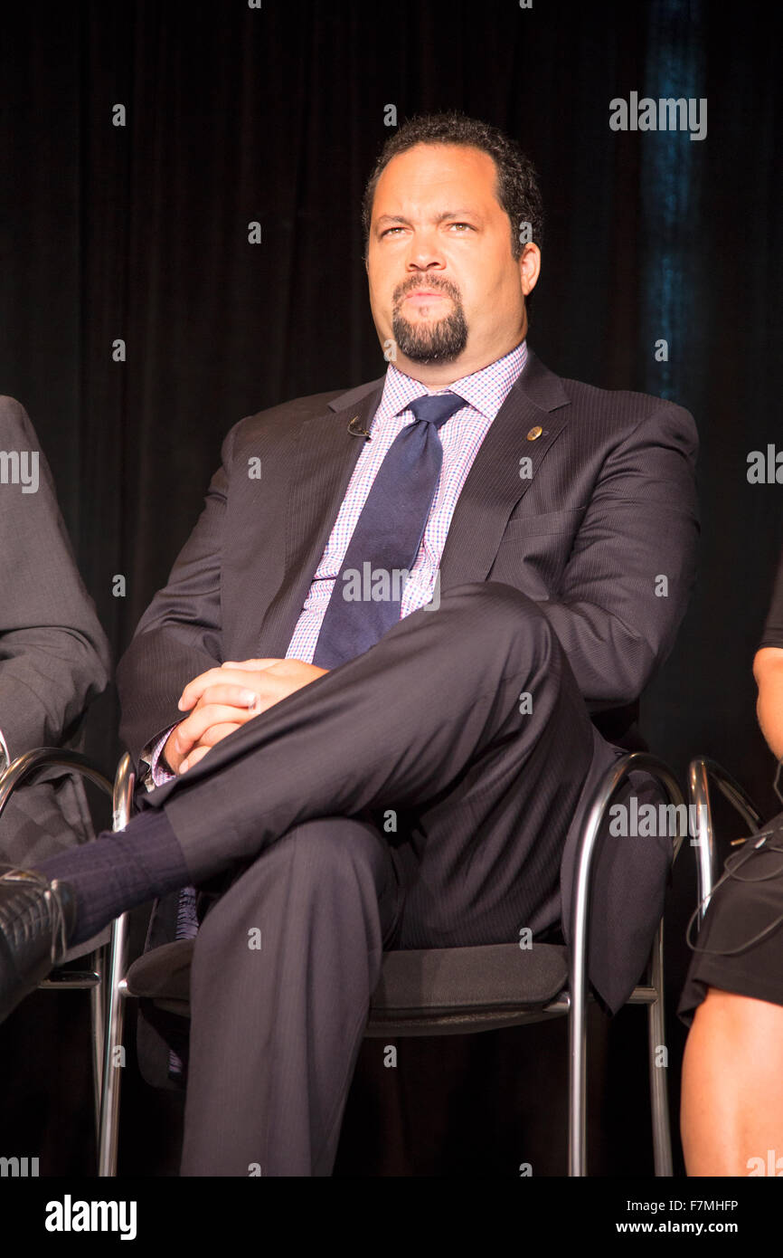 Former NAACP President and CEO Ben Jealous at Newseum Museum Panel on 50th Anniversary of Civil Rights March on - Stock Image