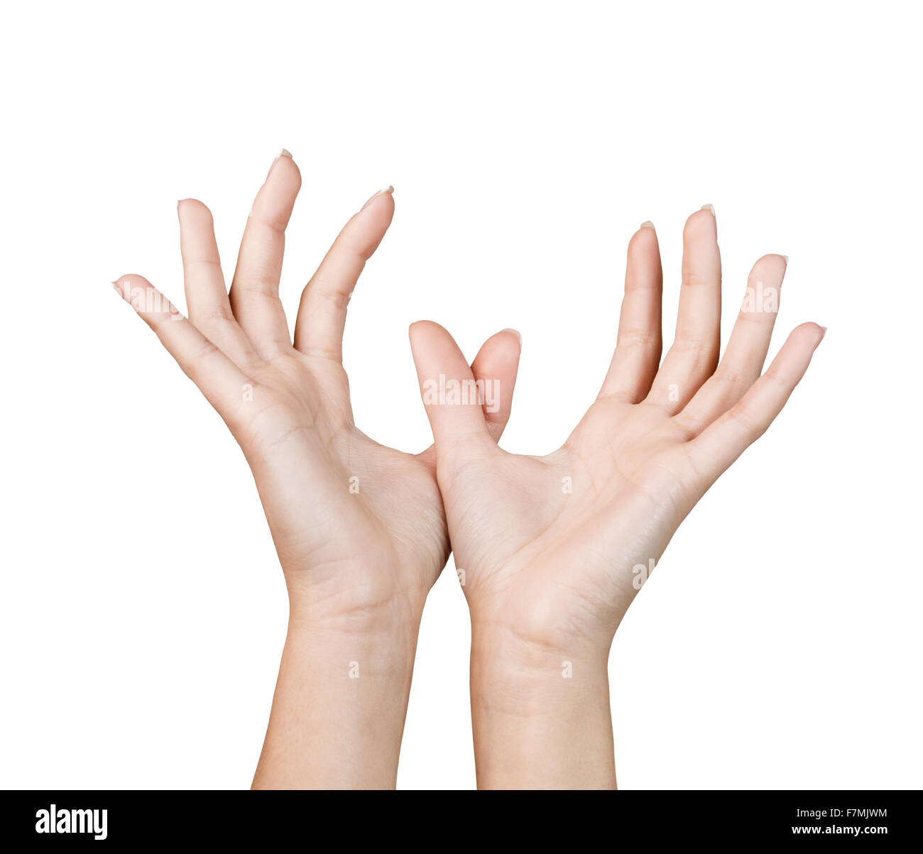 Hand Signal Two Hands Stock Photo 90808304 Alamy