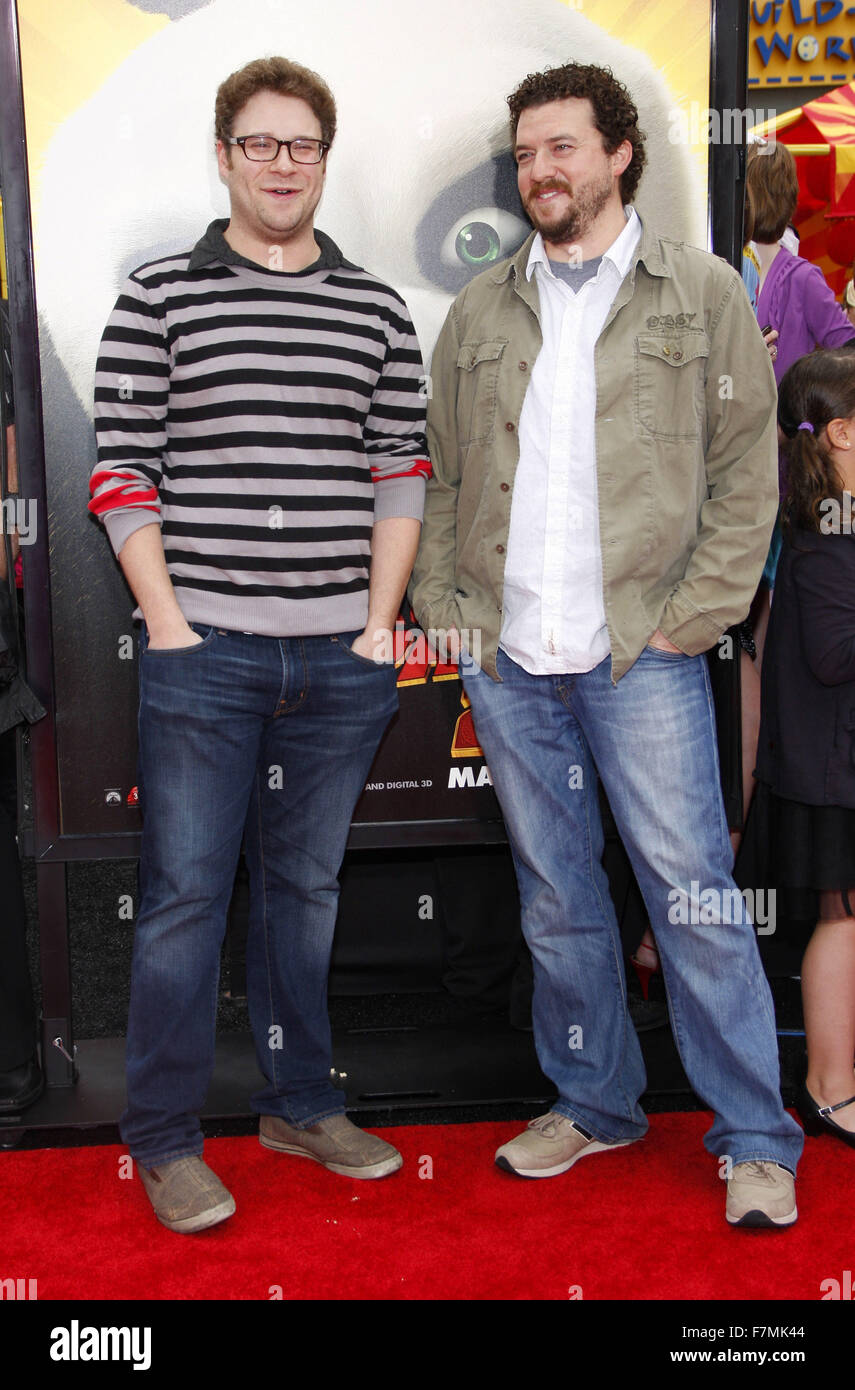 Seth Rogen and Danny McBride at the Los Angeles Premiere of 'Kung Fu Panda 2' held at the Grauman's - Stock Image