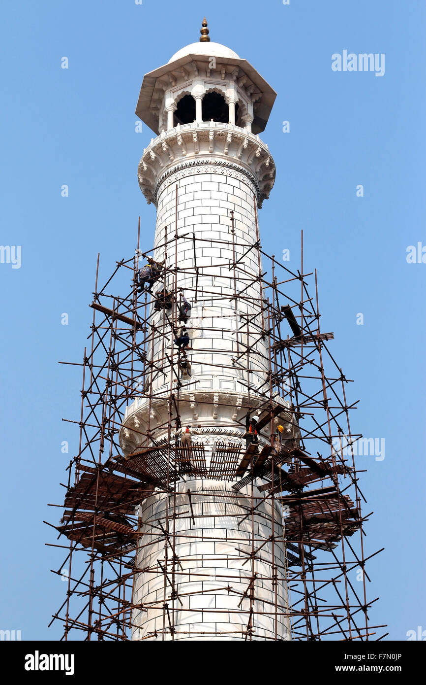 Construction work at Taj - Stock Image