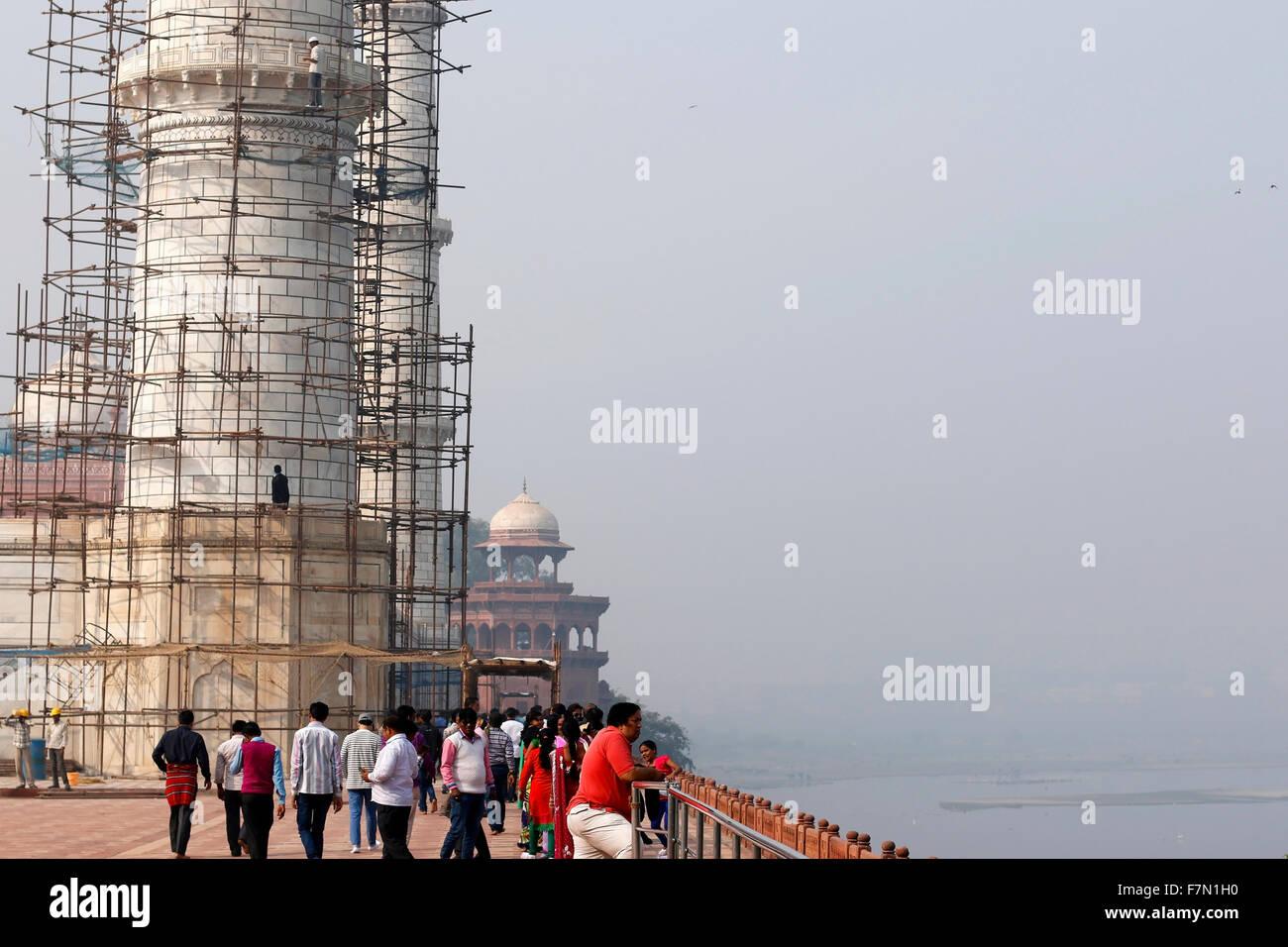 Construction work at Taj Stock Photo