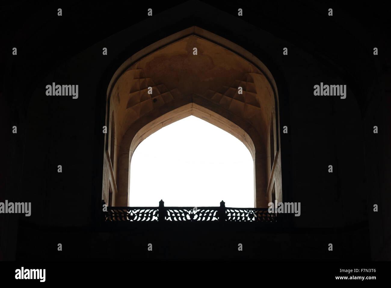 Colorful,Indian architecture, architecture, ancient architecture, Mugal architecture, window architecture Stock Photo