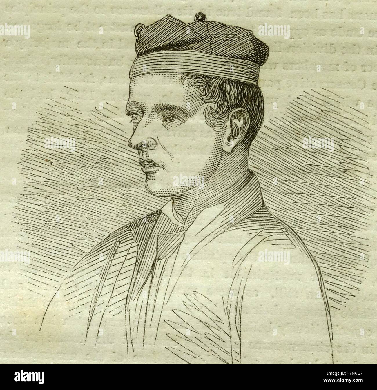 Peter Cunningham, of the English Battalion. 1860 - Stock Image