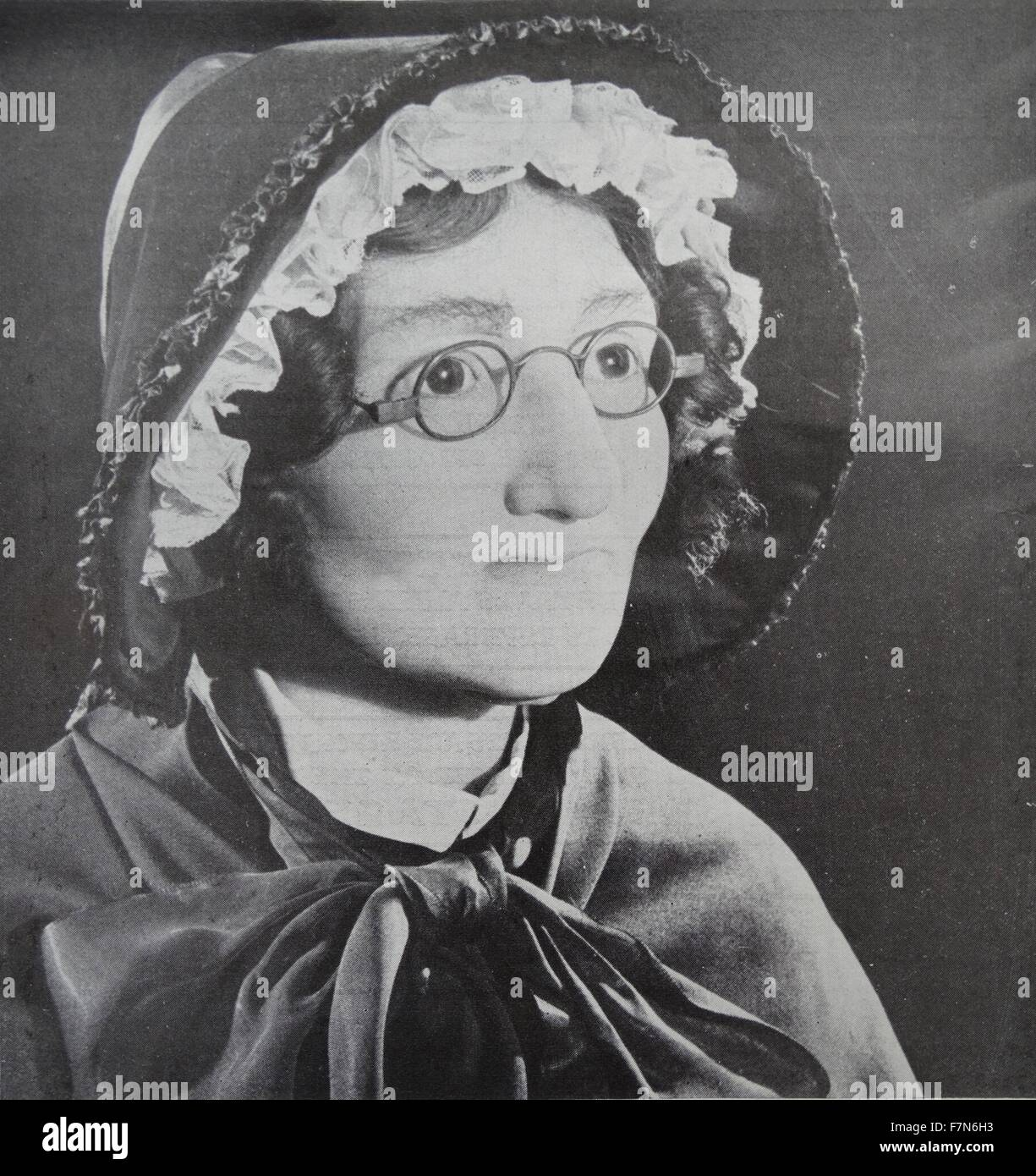 Madame Taussaud (1761-1850) whose name is associated with the waxworks in London. - Stock Image