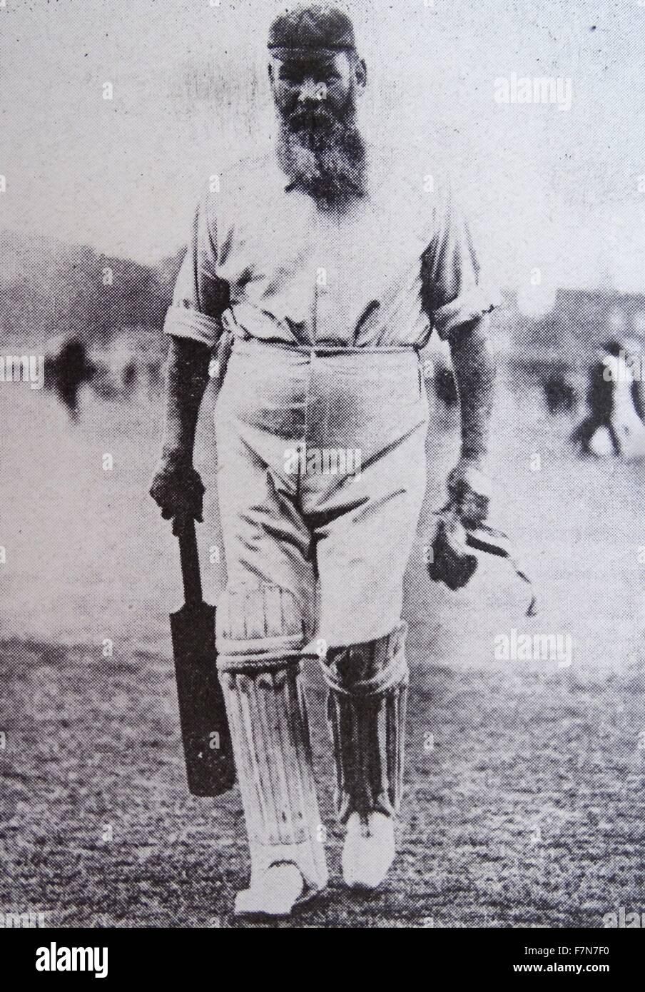 Dr. William Gilbert Grace (1848-1915), cricketer of legendary fame. - Stock Image