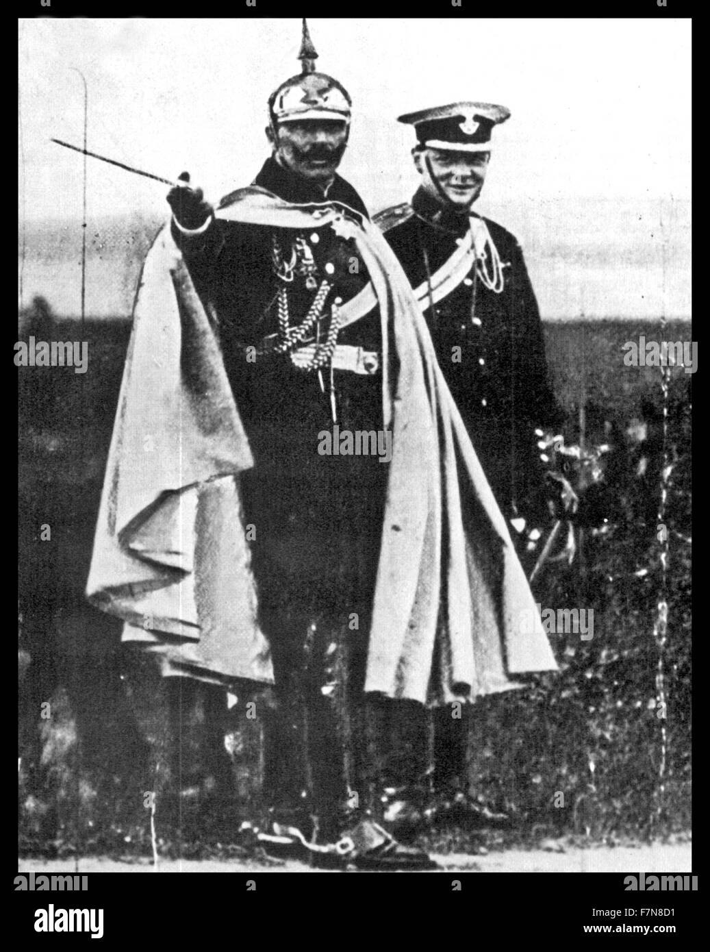 Winston Churchill with the German Emperor Wilhelm II in 1906 - Stock Image