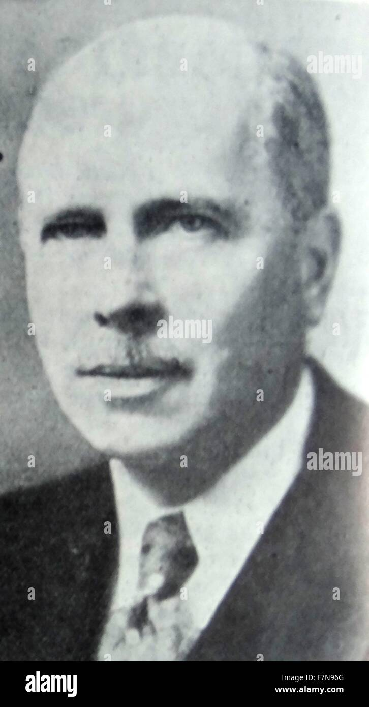 Photograph of Hugh R. Wilson (1885-1946) member of the United States Foreign Service, Assistant Secretary of State - Stock Image