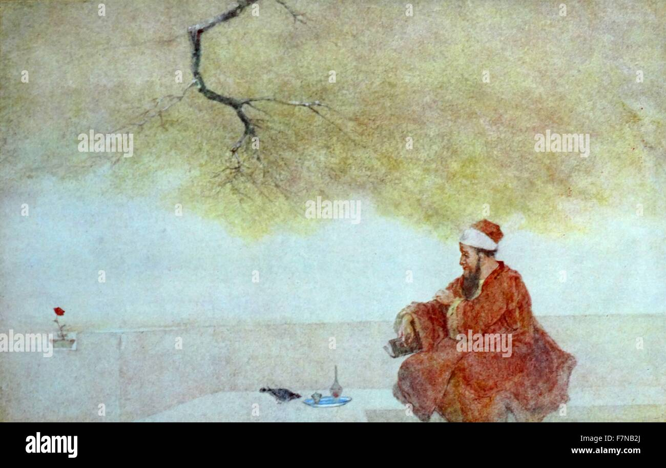Shah Jahan (1592 – 1666) fifth Mughal Emperor of India; by Abanindranath Tagore (7 August 1871 – 5 December 1951) - Stock Image