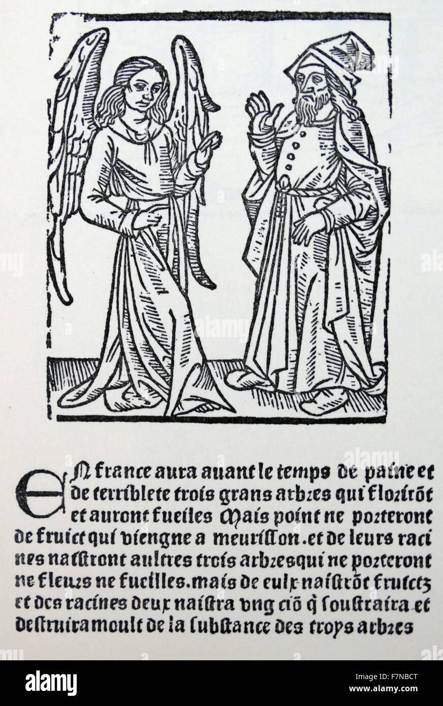 woodcut from 'la Livre du Roi Modus et de la Reine Ratio' Antoine caillault, paris 1505 - Stock Image