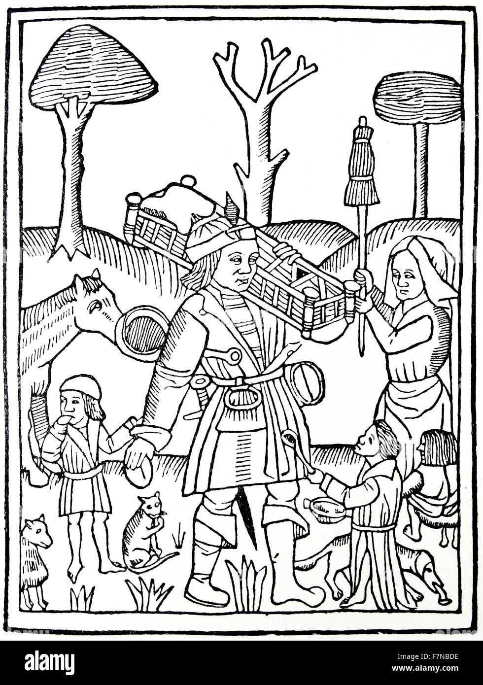 Les Quinze joies de mariage (The 15 Joys of Marriage) is an anonymous late 14th or early 15th century French satire - Stock Image