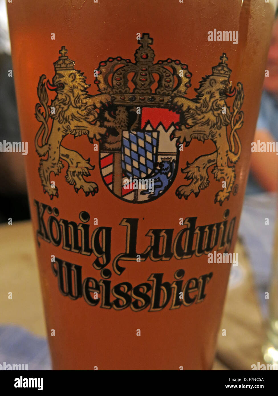 A glass of konig Ludwig Weissbier, Munich,Germany - Stock Image