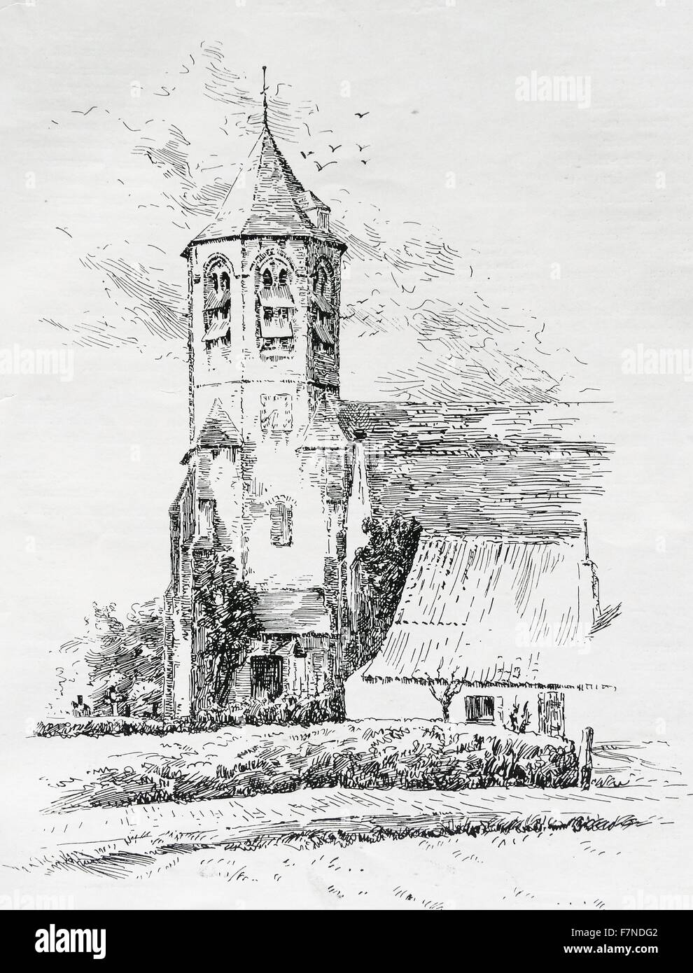 A Country Church At Knocke Belgium 1900 For Centuries Flanders Was Land Of Great Wealth And Piety Many Its Little Villages Are Blessed With