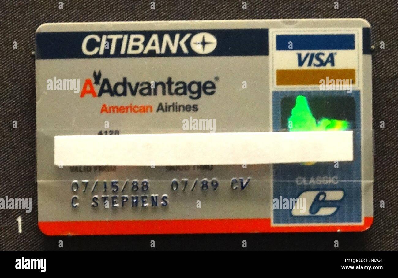 Emlak Bankasi Visa card, Turkey, 1990s - Stock Image