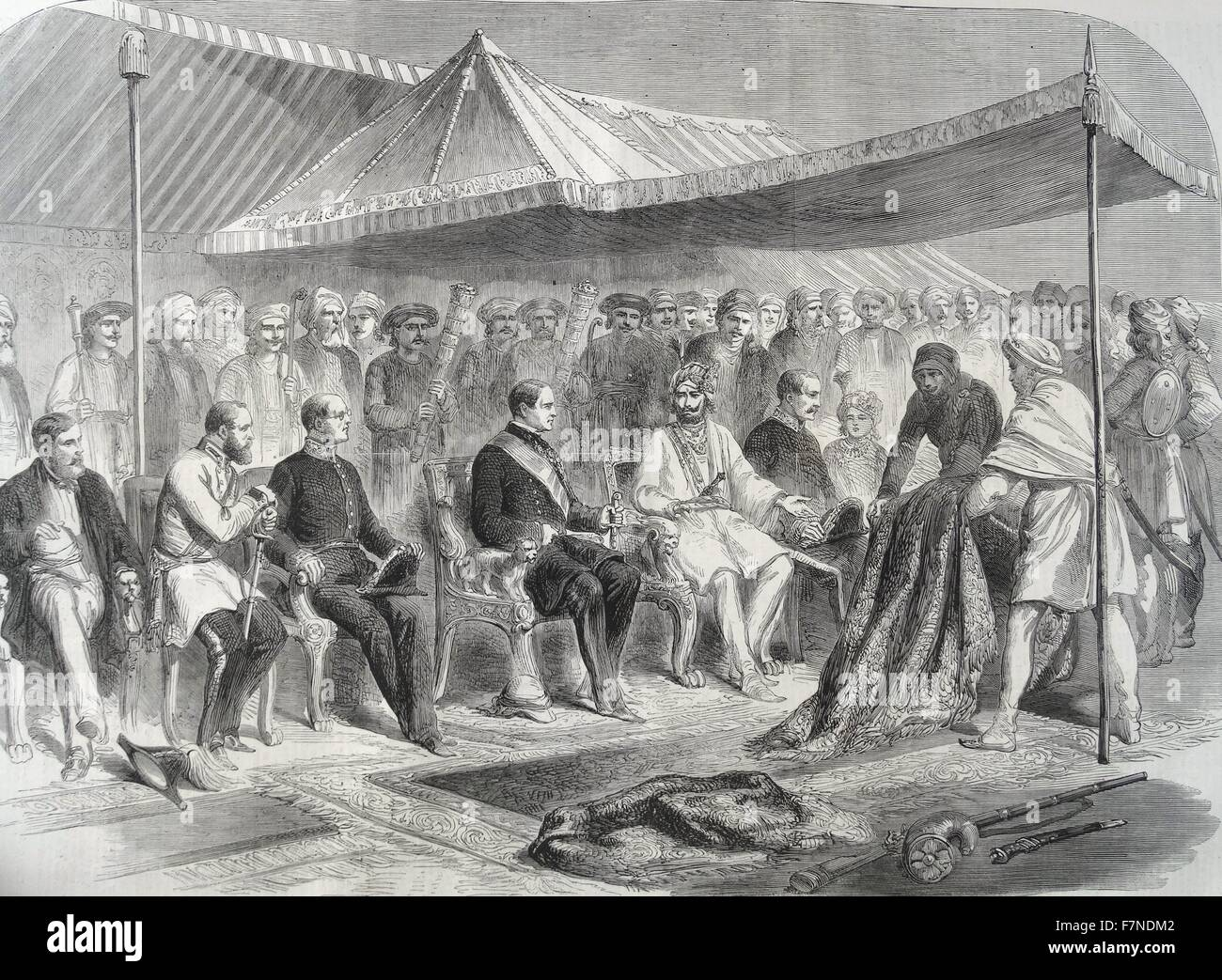 Interview at Sealkote, India. on the 9th of March 1860. Between ...