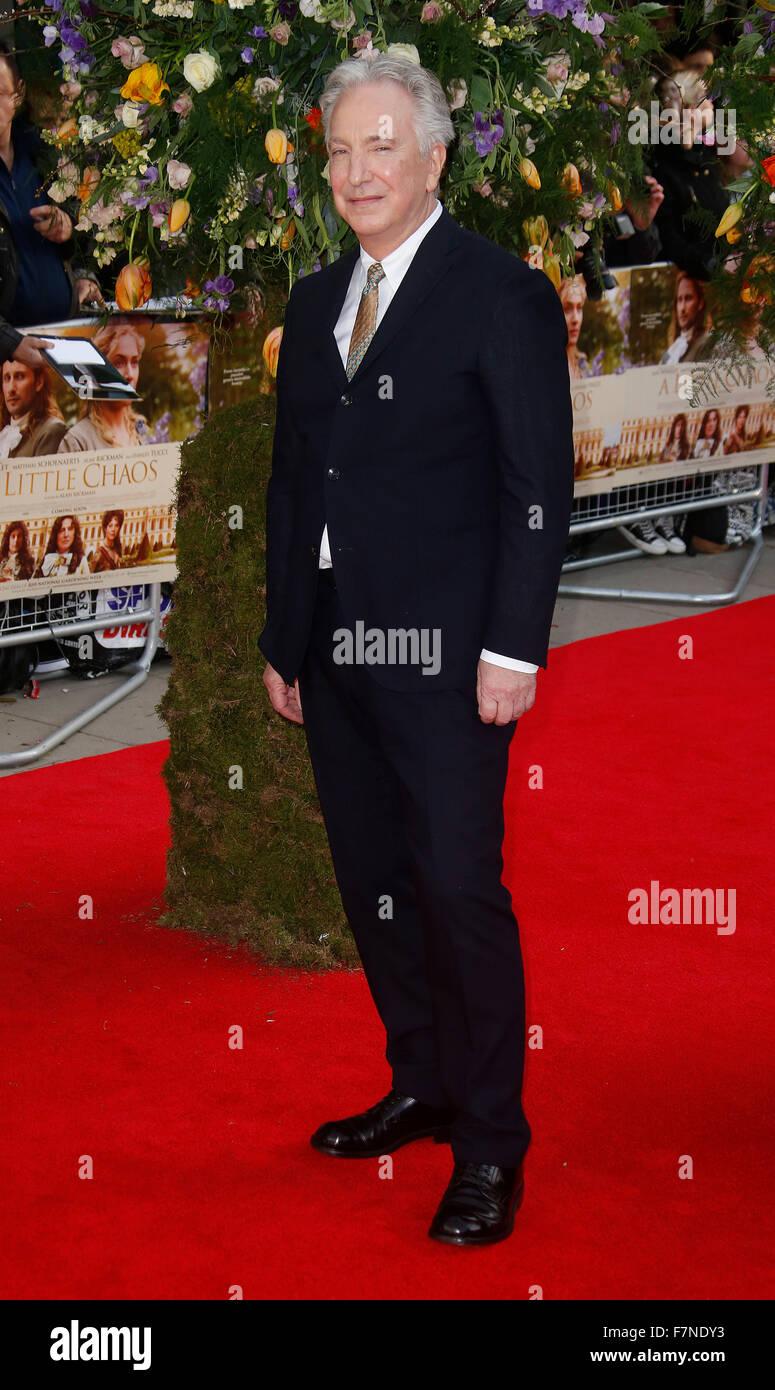 Apr 13, 2015 - London, England, UK - Alan Rickman attending A Little Chaos UK Premiere, Odeon Kensington - Stock Image