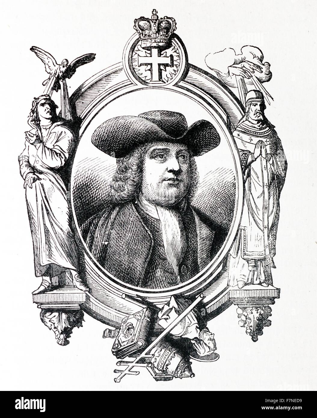 The Founder of a Republic, William Penn (1644-1718). Stock Photo