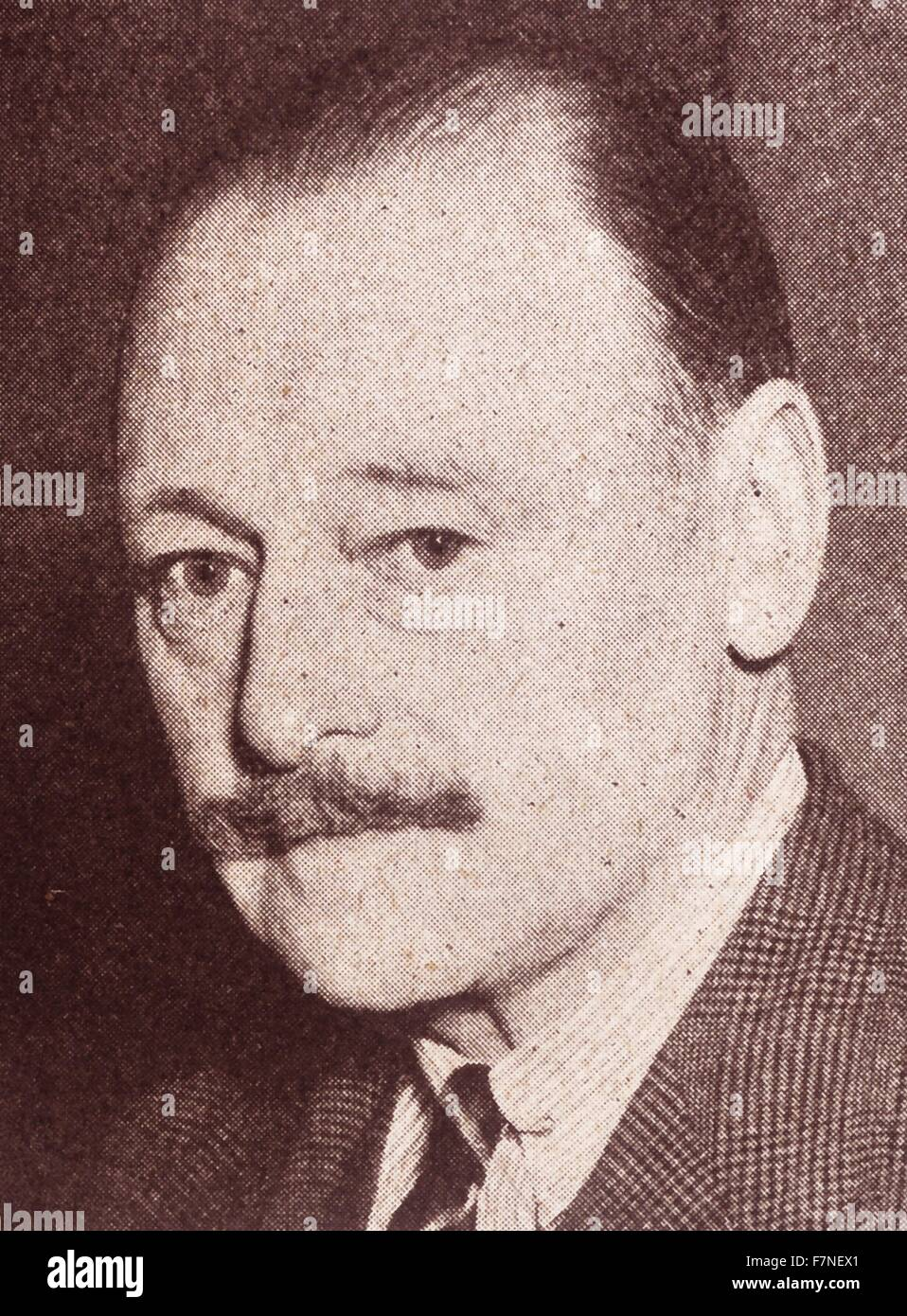 Photograph of Colonel Evan Hunter, Secretary of the British Olympic Association. Dated 1948 - Stock Image