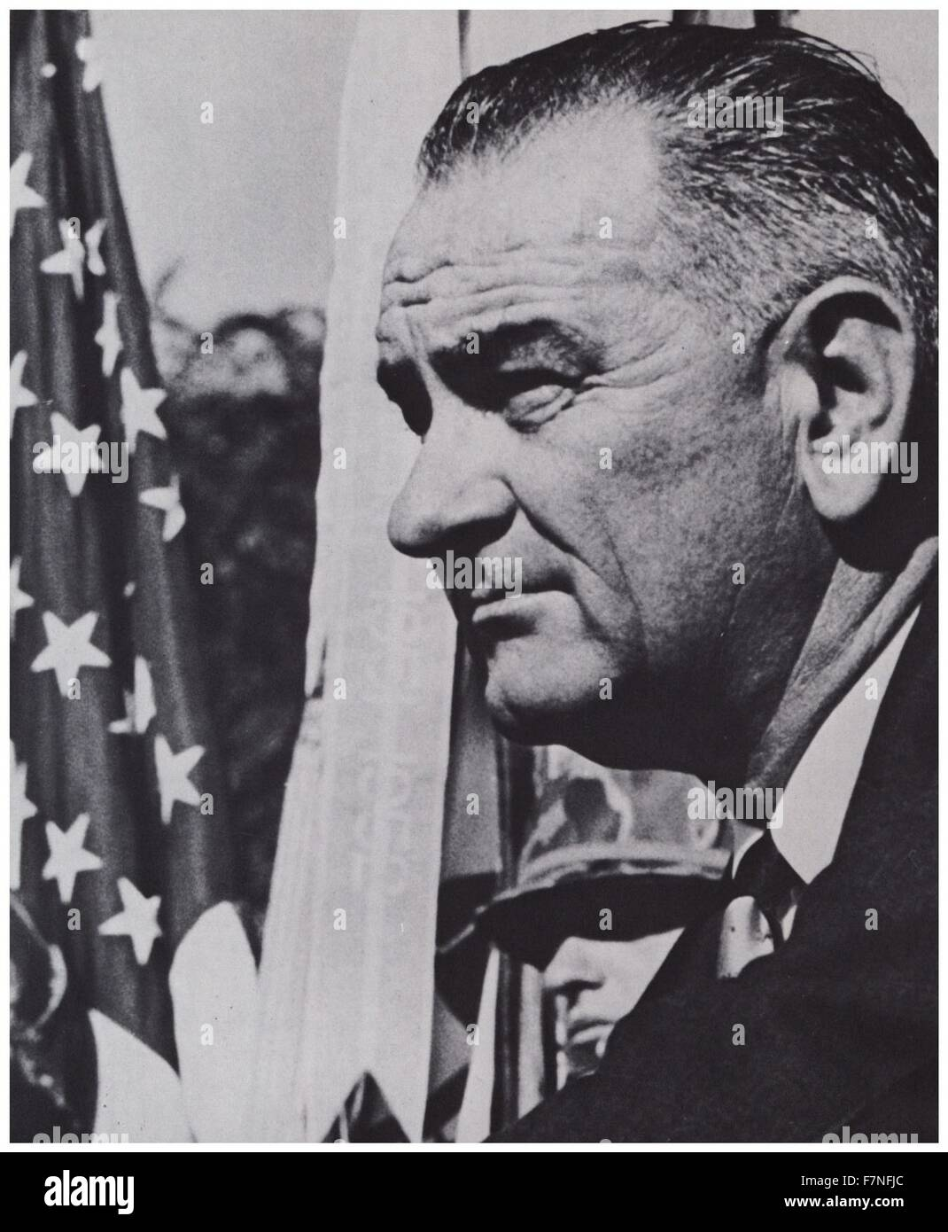 Lyndon Baines Johnson President of the USA 1963-1969 - Stock Image