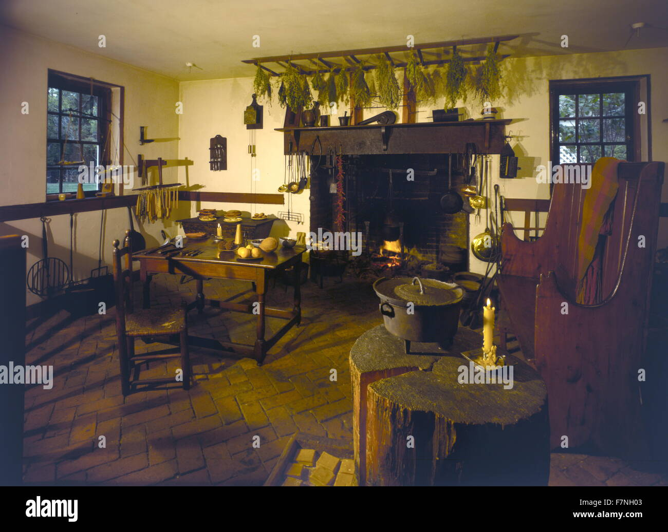 17th century Dutch kitchen - Stock Image