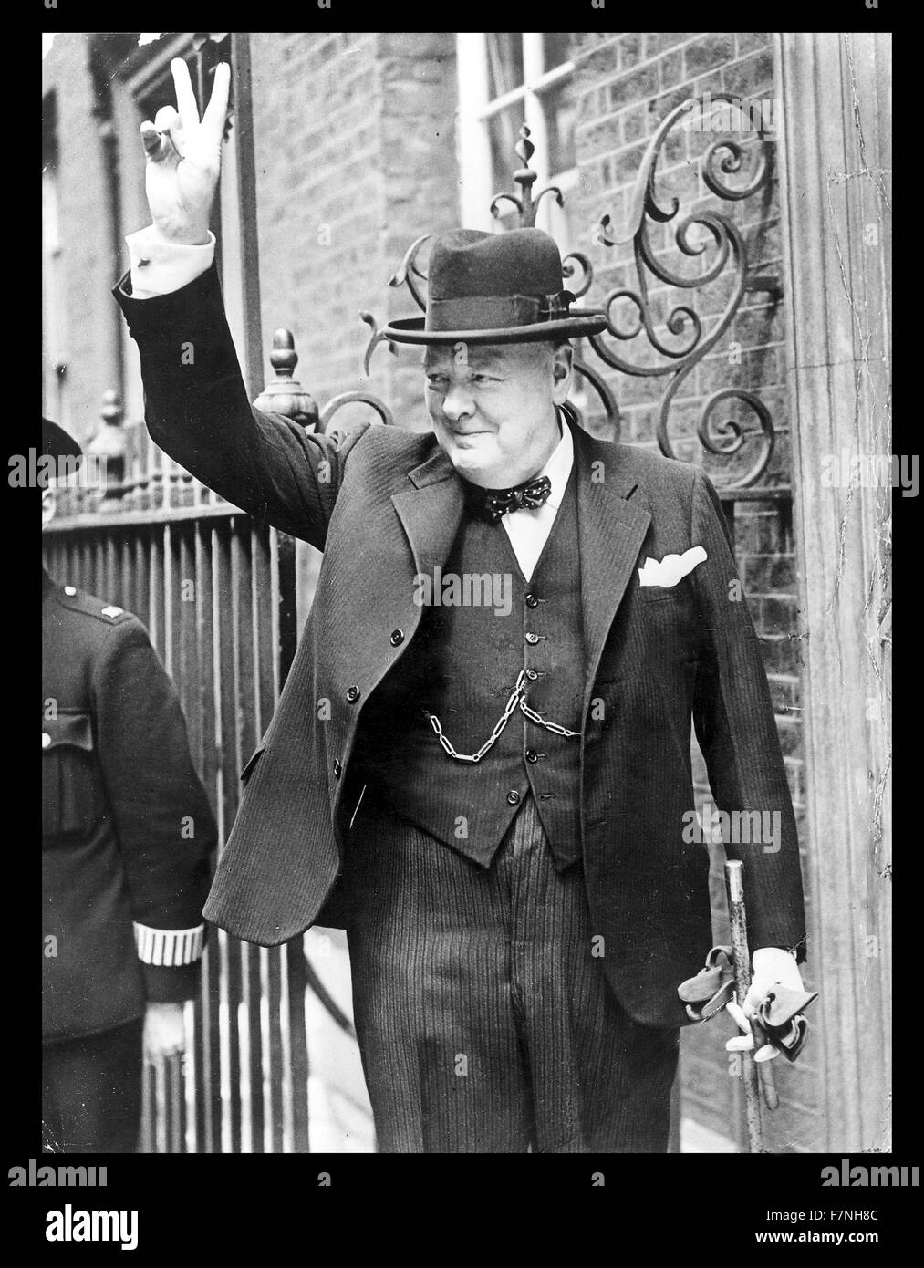 Photograph of Winston Churchill (1874-1965) British politician who was the Prime Minister of the United Kingdom. - Stock Image