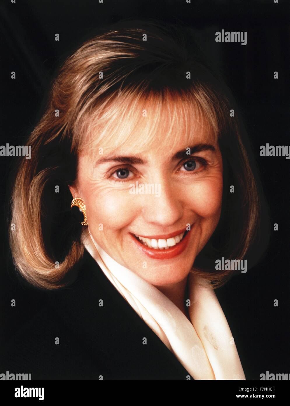 Hillary Clinton, 1992. American politician and wife of President Bill Clinton, of the United States; First Lady - Stock Image