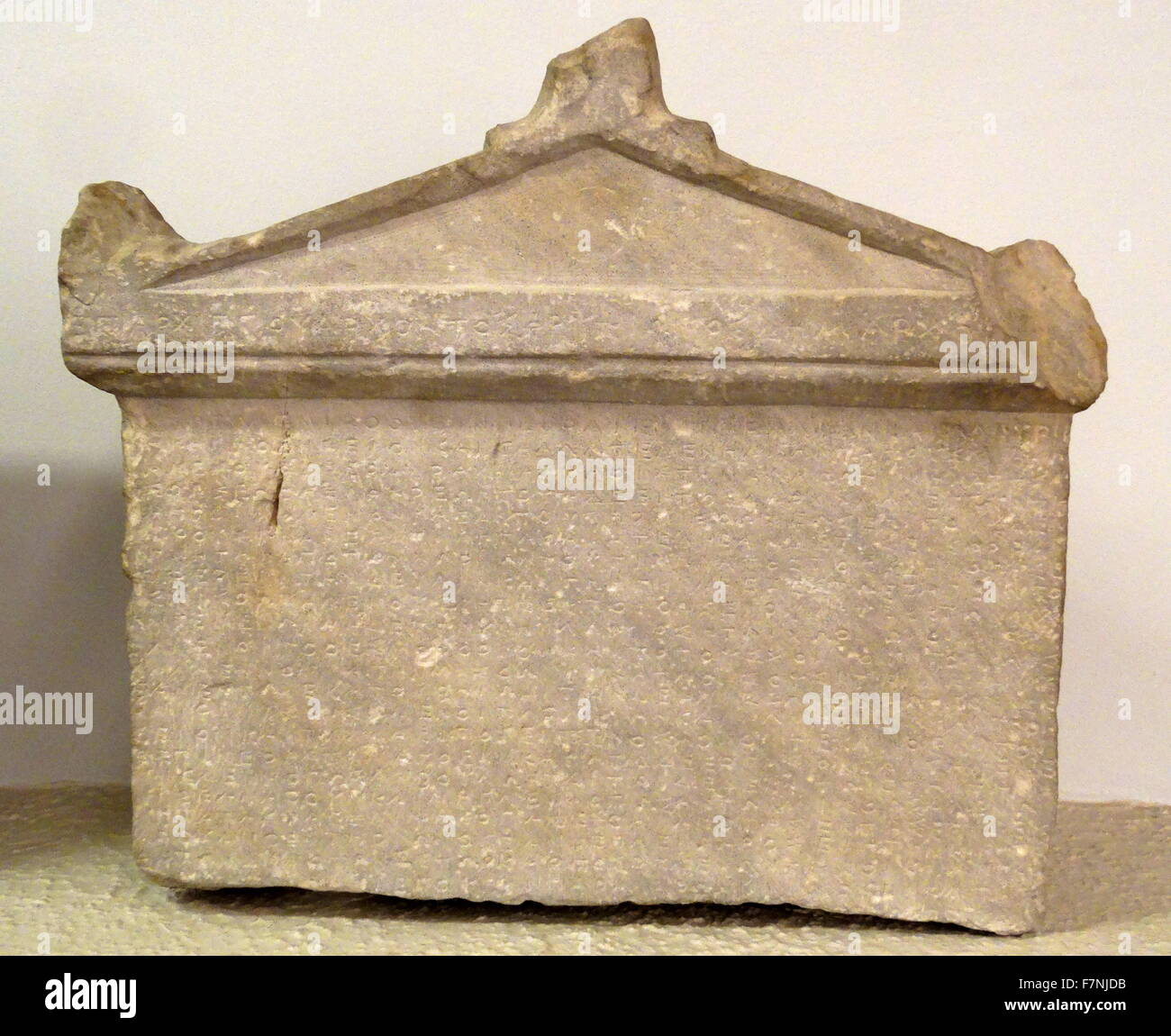 Stone slab inscribed with regulations concerning the lease of land in Piraeus. Dated in the Archonship of Archippos. - Stock Image