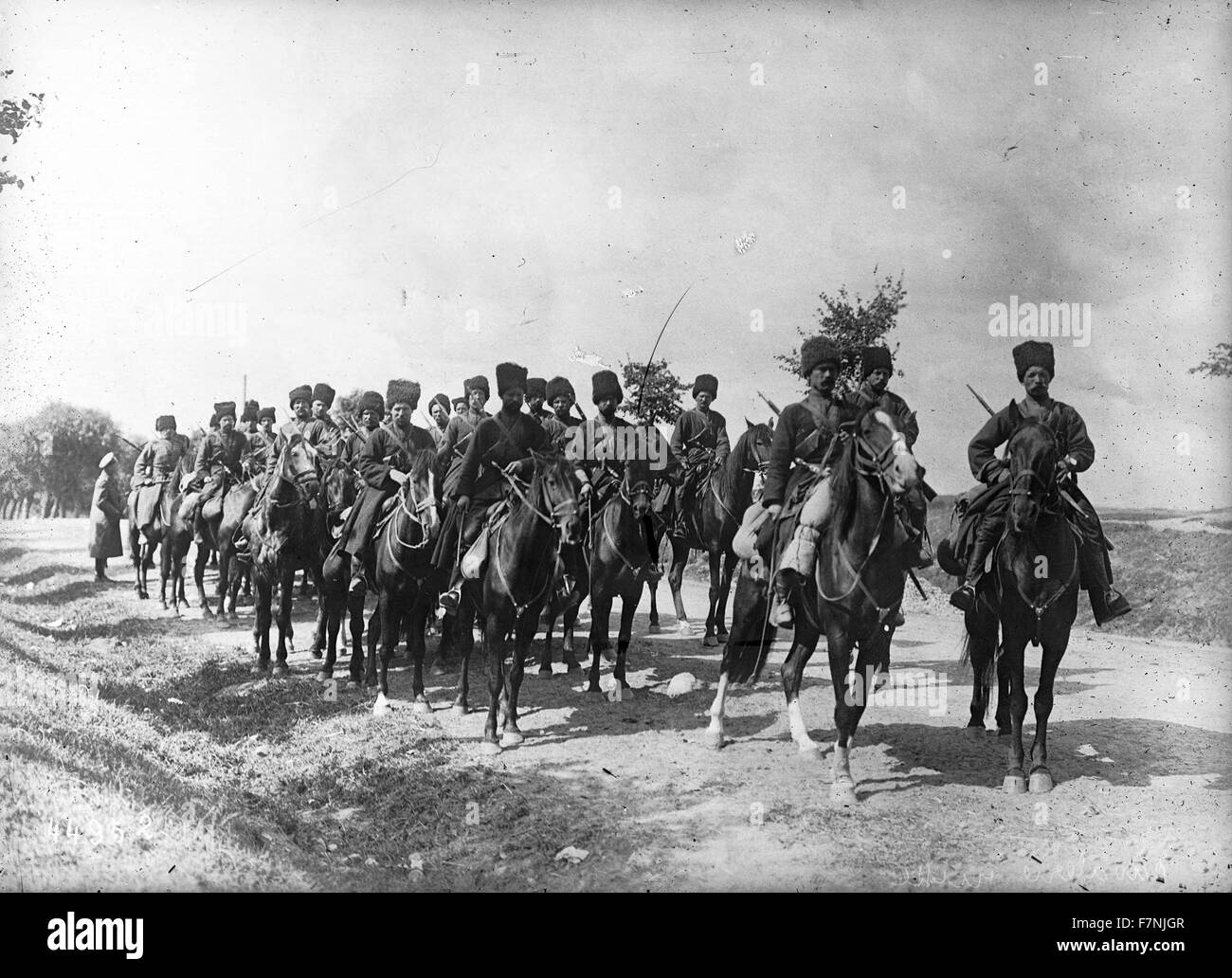 First World War Russian imperial cavalry 1914 - Stock Image