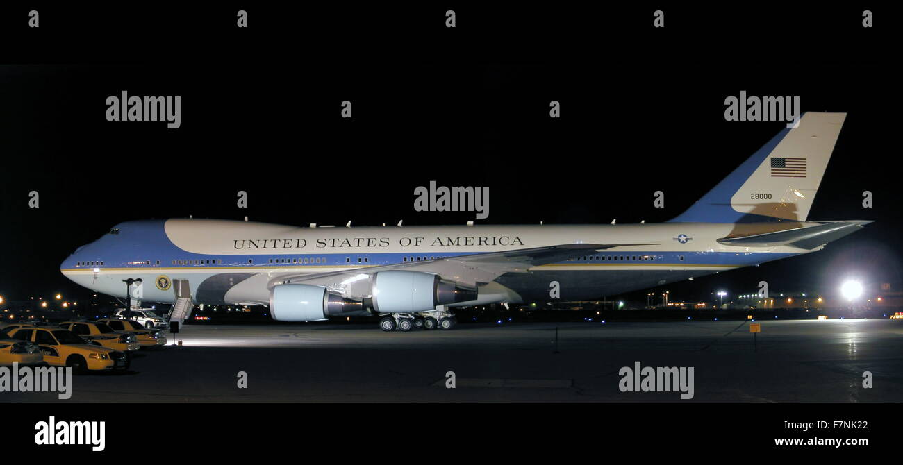 US Air Force one, Presidential aircraft 2012 - Stock Image