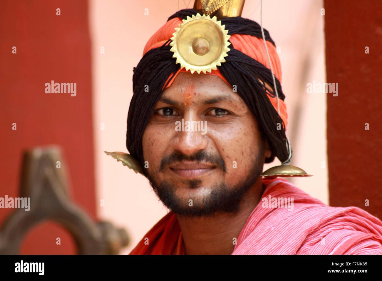 Sadhu, Kumbh Mela, Nasik, Maharashtra, India - Stock Image