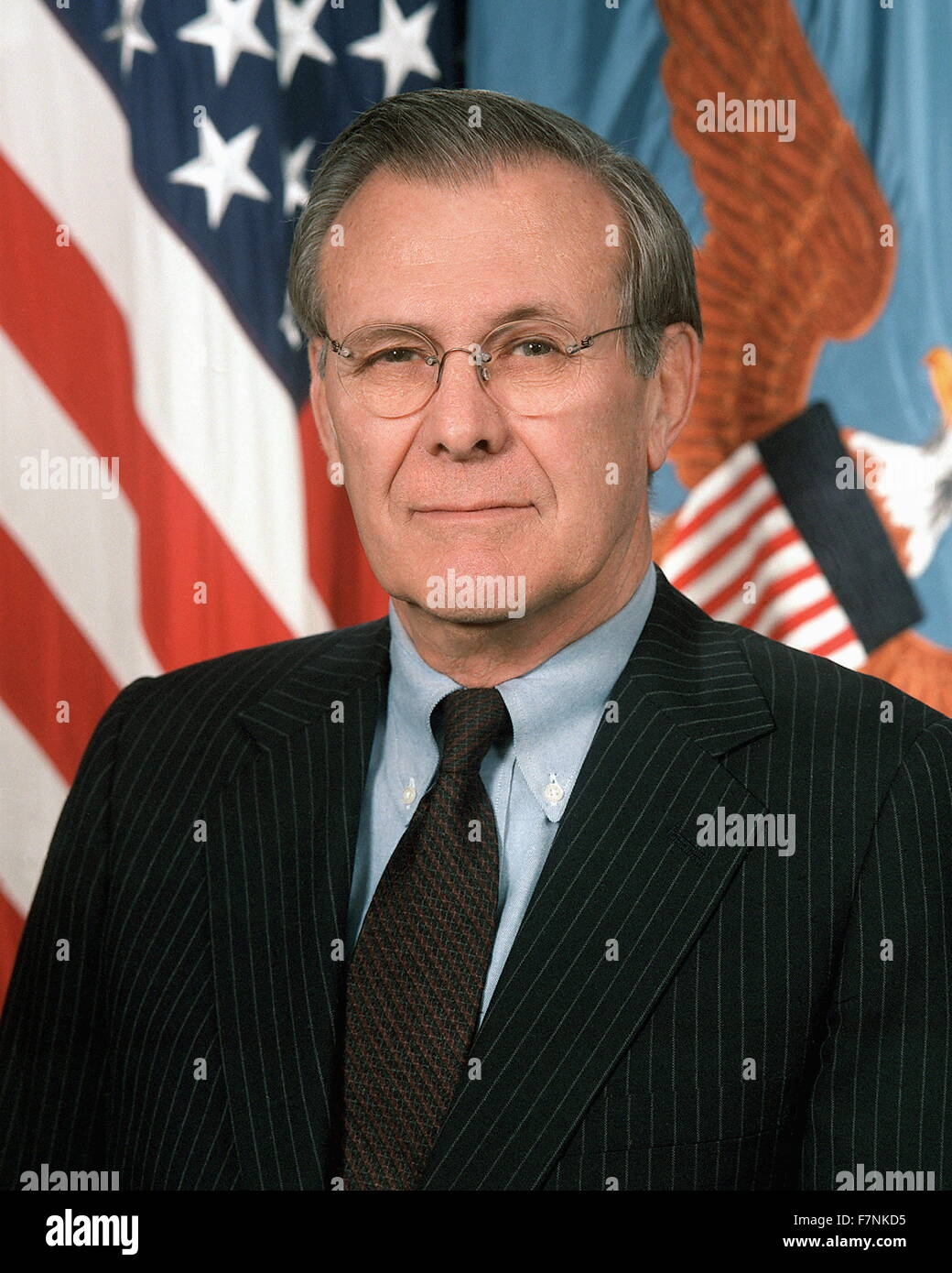 Donald Rumsfeld (born July 9, 1932) American politician and businessman. Secretary of Defense from 1975 to 1977 - Stock Image