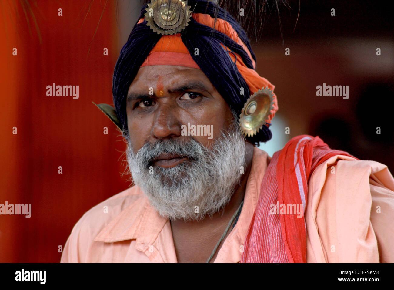 Sadhu, Kumbh Mela, Nasik, Maharashtra, India Stock Photo
