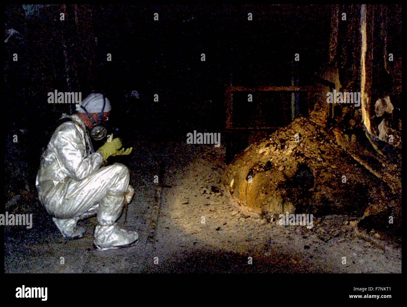 The Elephants Foot of the Chernobyl disaster. - Stock Image