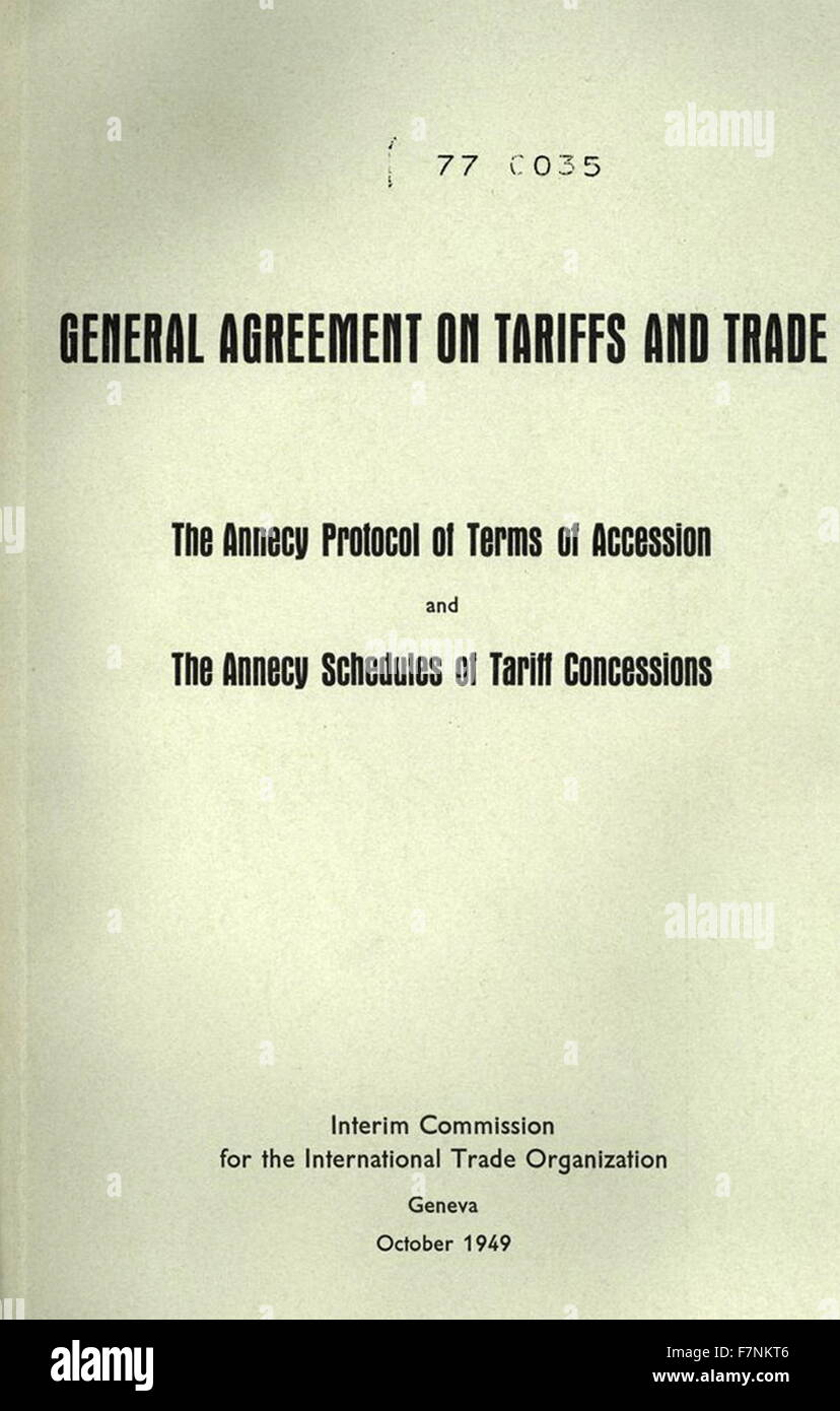 General Agreement On Tariffs And Trade Stock Photos General