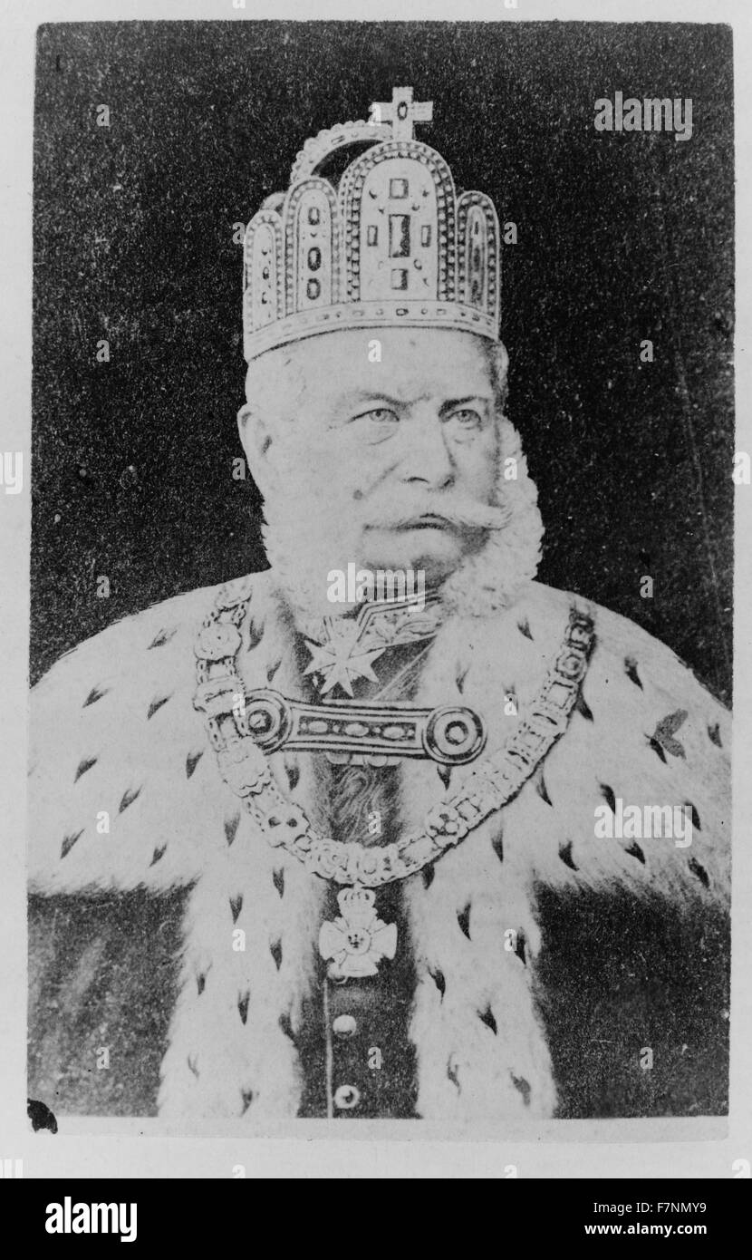 Wilhelm I, Emperor of Germany. Wilhelm was the King of Prussia and the first Head of State of a United Germany. - Stock Image