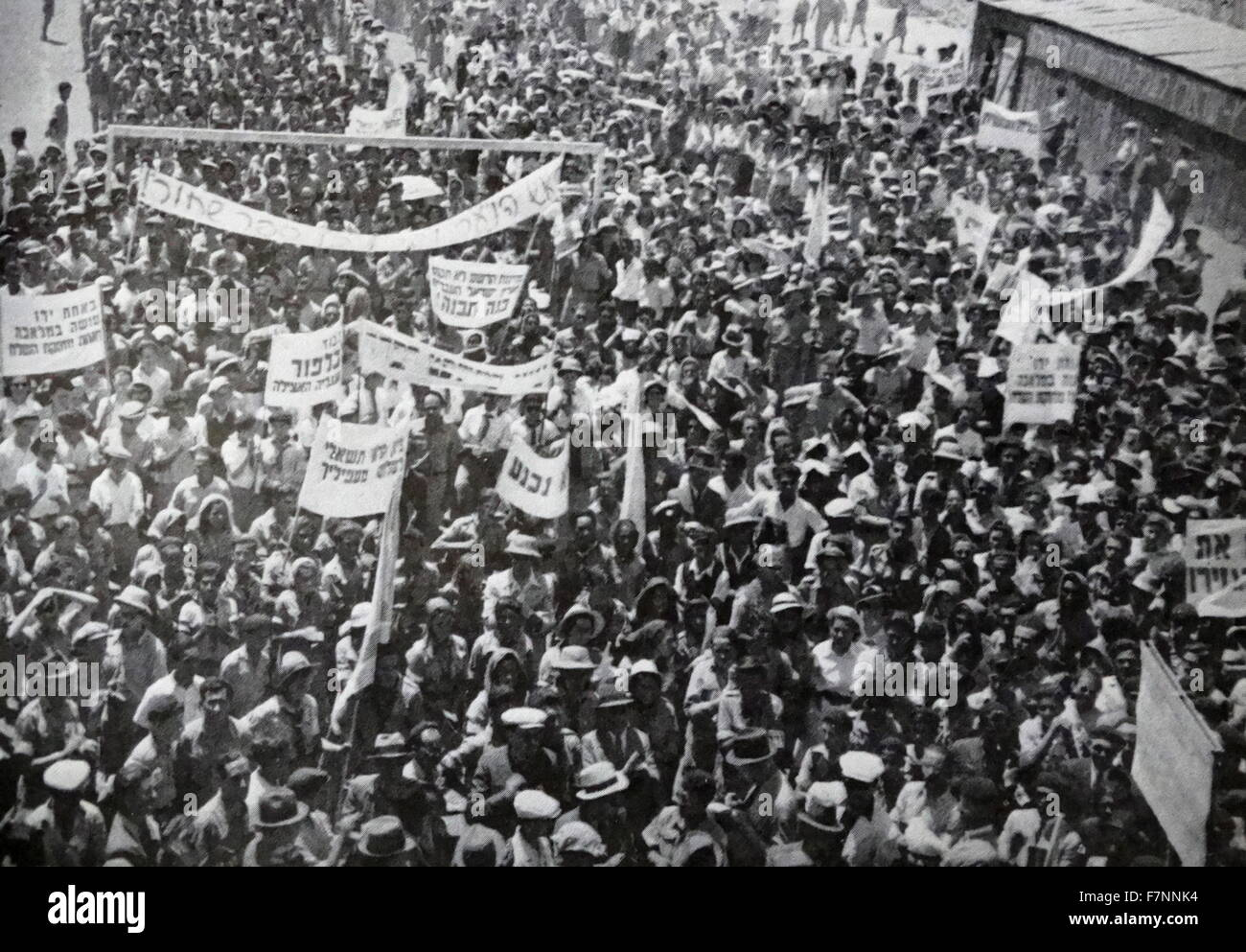 protest by Zionist Jews in Palestine 1936 - Stock Image