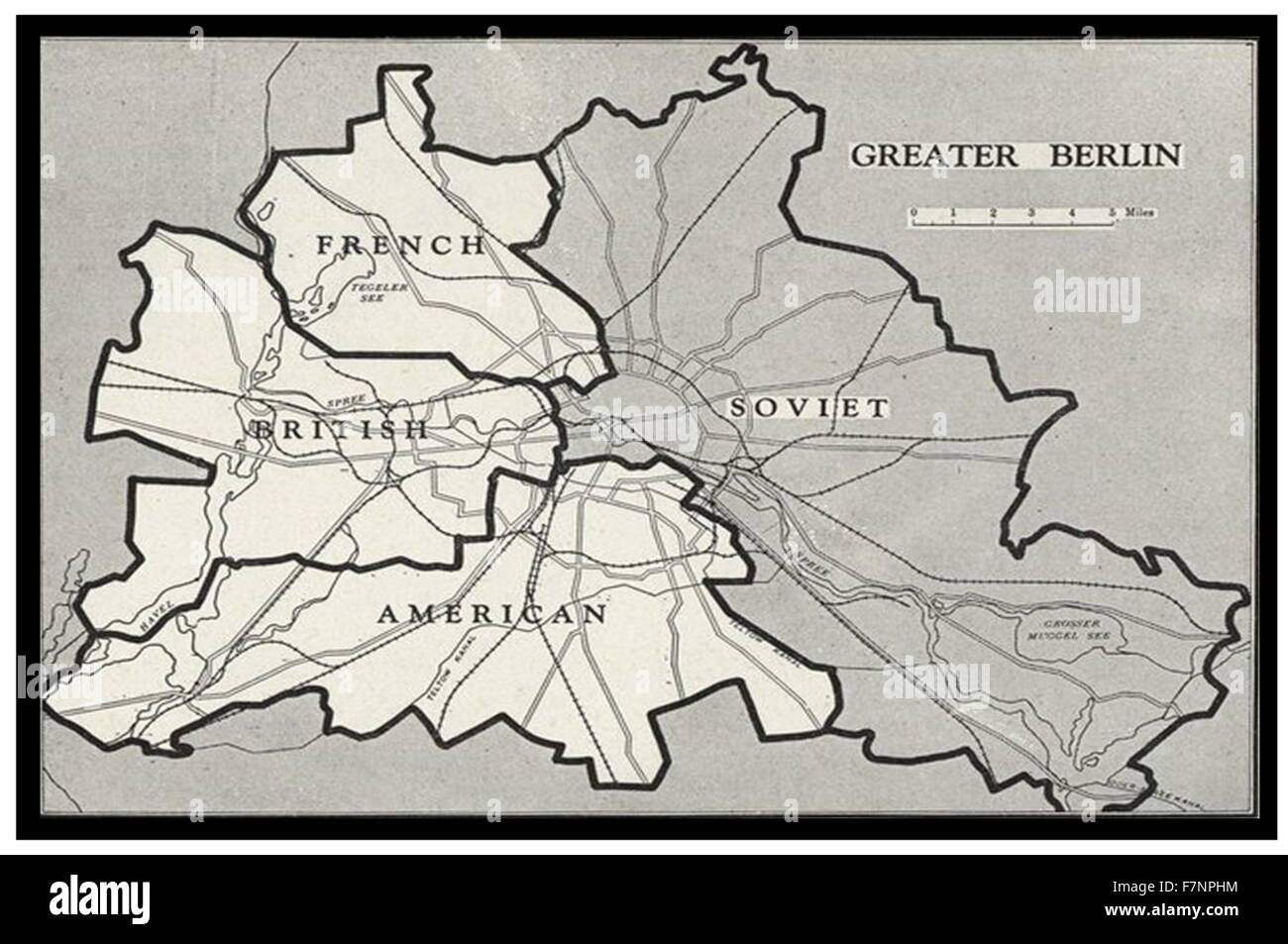 Berlin Blockade Map 1948. he Berlin Blockade (1 April 1948 – 12 May 1949) was one of the first major international Stock Photo