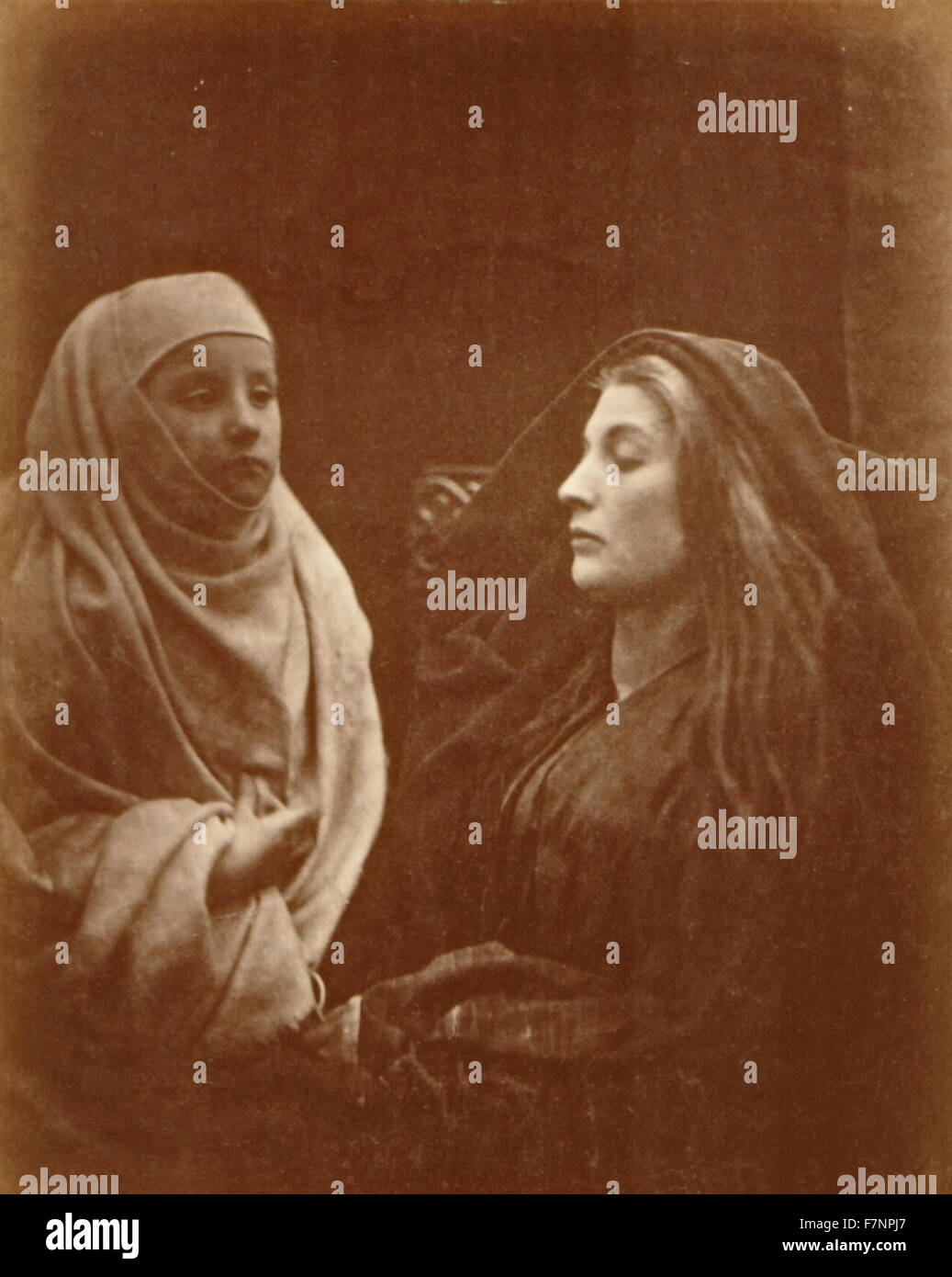 Julia Margaret Cameron, 1874 nphotograph 'The Little Novice and the Queen' - Stock Image