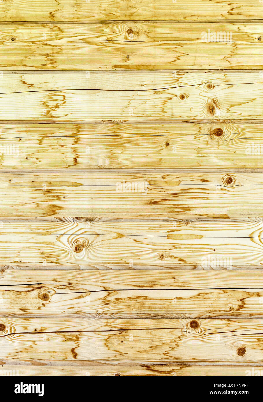 Wooden planks with natural patterns as background - Stock Image