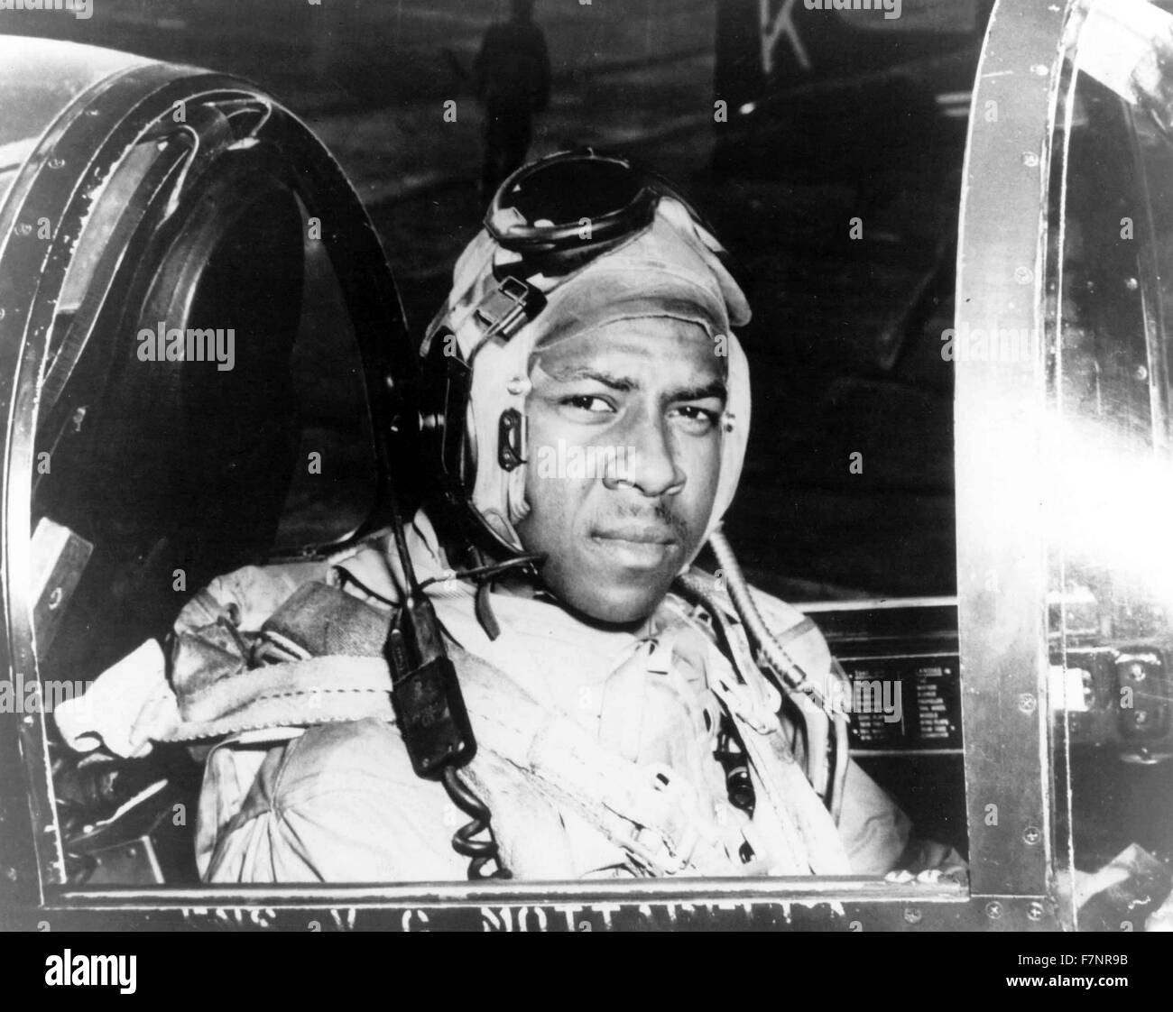 Photograph of Jesse L. Brown (1926-1950) A United States Navy Officer and the first African-American aviator in - Stock Image