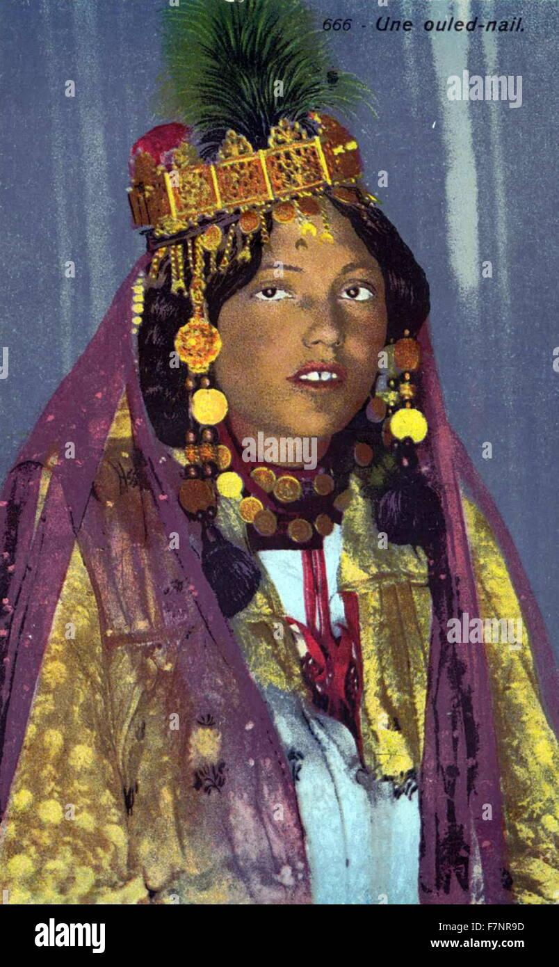 Tunisian woman 1900 - Stock Image