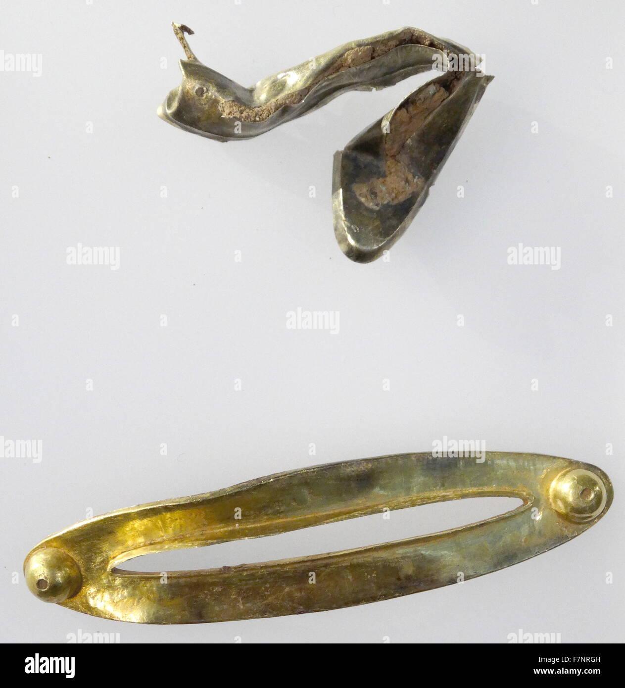 Gold collar; Anglo Saxon 8th Century - Stock Image