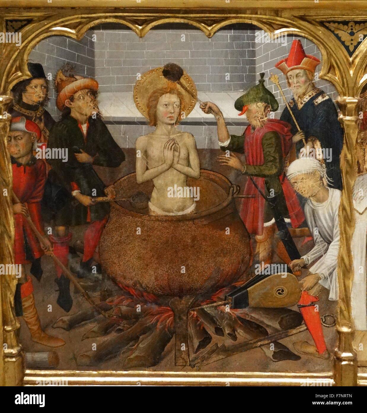Altarpiece Of Saint John By Bernat Martorell Catalan Painter The International Gothic Style Dated 15th Century