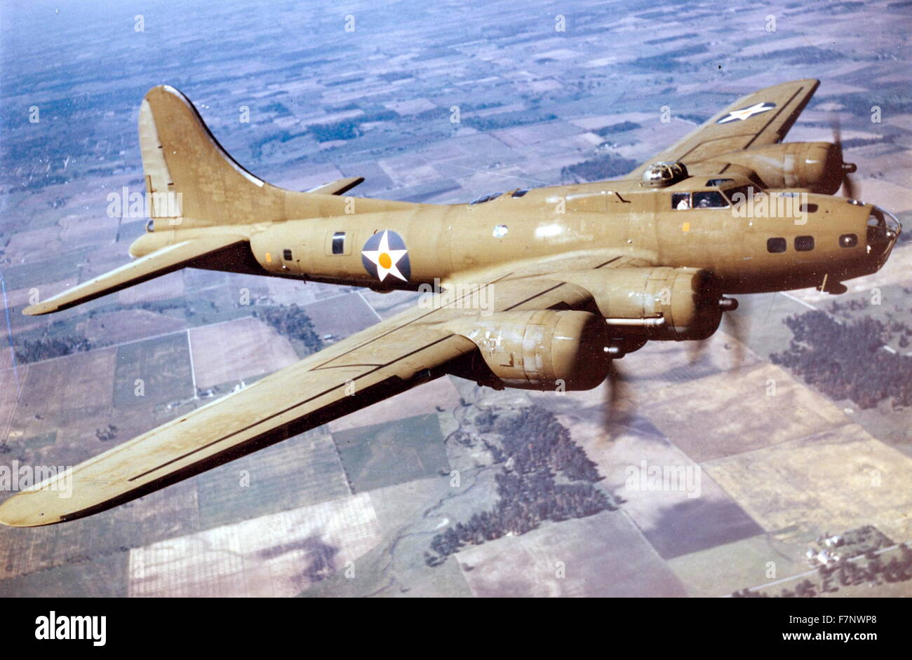World War two, B-17E Flying Fortress bomber aircraft Stock Photo